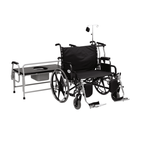 Bariatric Suite Kit - Expandable Walker, Commode and Wheelchair