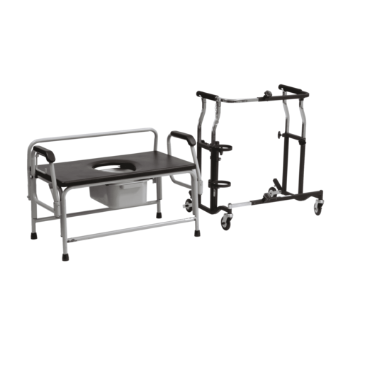 Bariatric Suite Kit - Expandable Walker and Commode