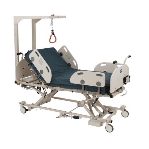 Sentinel II Bariatric Low Bed with Foam Matress and Trapeze