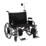 Bariatric Wheelchair with O2 Tank Holder and IV Pole
